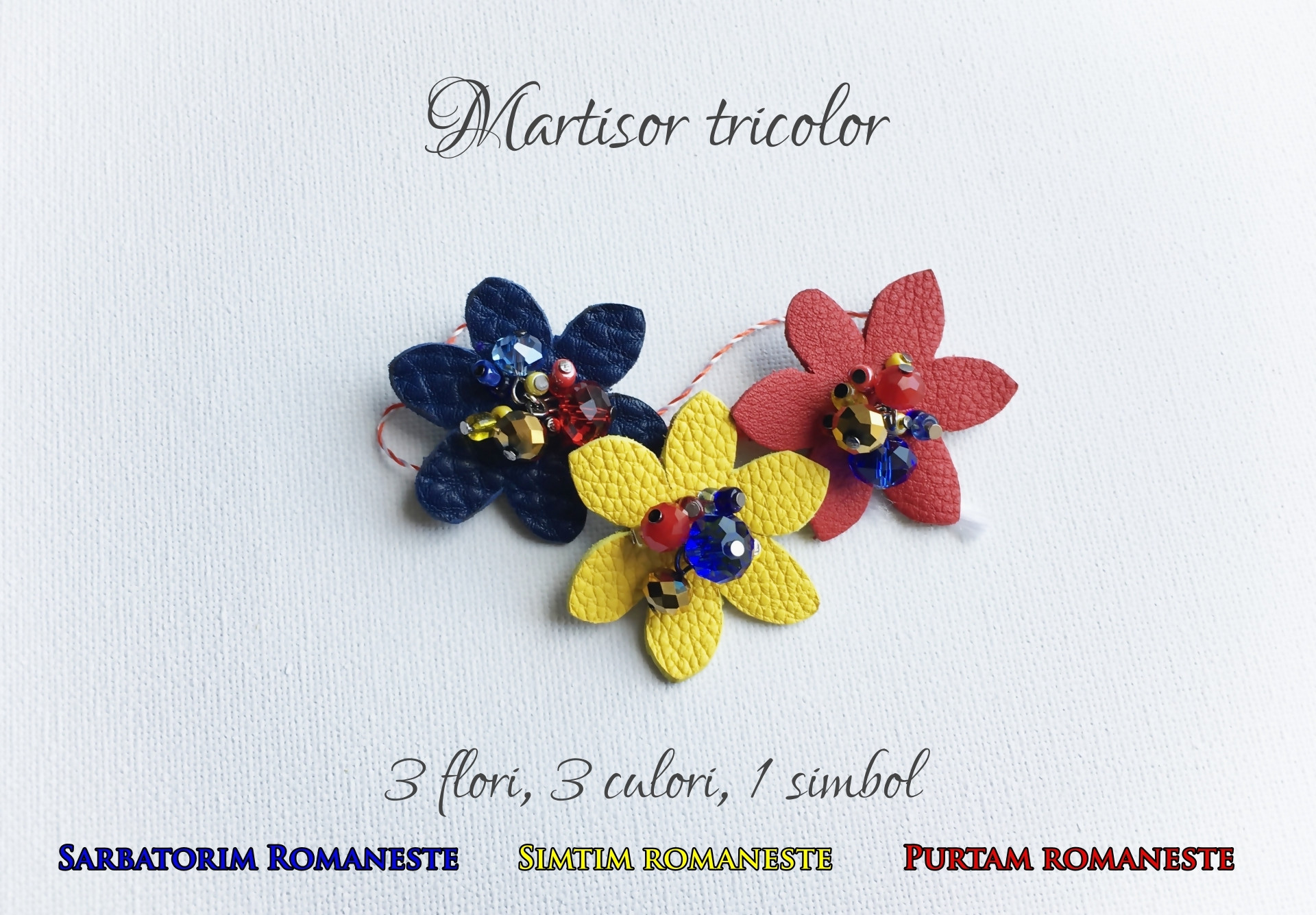 martisor tricolor sashaccessories by gia